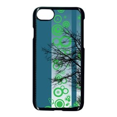 Tree Circles Lines  Apple Iphone 7 Seamless Case (black) by amphoto