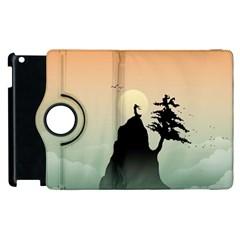 Cliff Mountain Tree  Apple Ipad 3/4 Flip 360 Case by amphoto