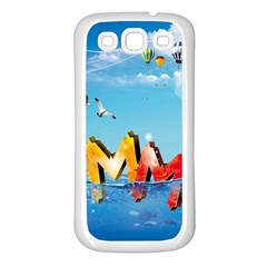 Summer Sea Clouds  Samsung Galaxy S3 Back Case (white) by amphoto