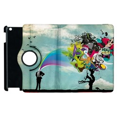 Man Crazy Surreal  Apple Ipad 3/4 Flip 360 Case by amphoto