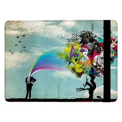 Man Crazy Surreal  Samsung Galaxy Tab Pro 12 2  Flip Case by amphoto