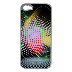 Colorful Lines Dots  Apple Iphone 5 Case (silver) by amphoto