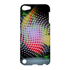 Colorful Lines Dots  Apple Ipod Touch 5 Hardshell Case by amphoto