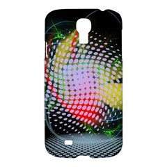 Colorful Lines Dots  Samsung Galaxy S4 I9500/i9505 Hardshell Case by amphoto
