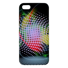 Colorful Lines Dots  Iphone 5s/ Se Premium Hardshell Case by amphoto