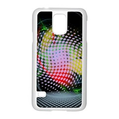 Colorful Lines Dots  Samsung Galaxy S5 Case (white) by amphoto