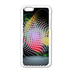 Colorful Lines Dots  Apple Iphone 6/6s White Enamel Case by amphoto