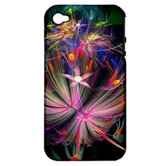 Patterns Lines Bright  Apple Iphone 4/4s Hardshell Case (pc+silicone) by amphoto