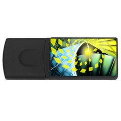 Line Light Form  Rectangular Usb Flash Drive by amphoto