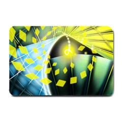 Line Light Form  Small Doormat  by amphoto