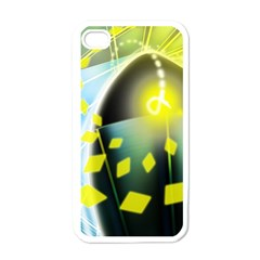 Line Light Form  Apple Iphone 4 Case (white) by amphoto