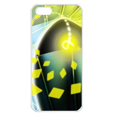 Line Light Form  Apple Iphone 5 Seamless Case (white) by amphoto