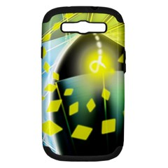 Line Light Form  Samsung Galaxy S Iii Hardshell Case (pc+silicone) by amphoto