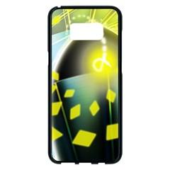Line Light Form  Samsung Galaxy S8 Plus Black Seamless Case by amphoto