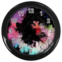Stains Lines Patterns 3840x2400 Wall Clocks (black) by amphoto