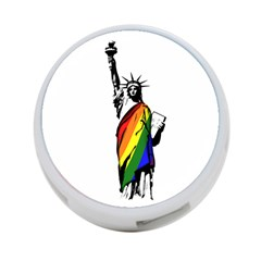 Pride Statue Of Liberty  4 Port Usb Hub (two Sides)  by Valentinaart