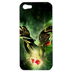 Leaves Explosion Line  Apple Iphone 5 Hardshell Case by amphoto