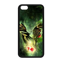 Leaves Explosion Line  Apple Iphone 5c Seamless Case (black) by amphoto