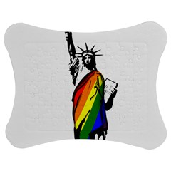 Pride Statue Of Liberty  Jigsaw Puzzle Photo Stand (bow) by Valentinaart