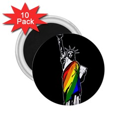 Pride Statue Of Liberty  2 25  Magnets (10 Pack)  by Valentinaart