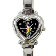 Pride Statue Of Liberty  Heart Italian Charm Watch by Valentinaart