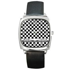 Chess  Square Metal Watch by Valentinaart