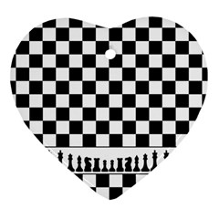 Chess  Heart Ornament (two Sides) by Valentinaart