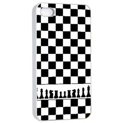 Chess  Apple Iphone 4/4s Seamless Case (white) by Valentinaart