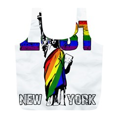 Lgbt New York Full Print Recycle Bags (l)  by Valentinaart