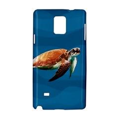 Sea Turtle Samsung Galaxy Note 4 Hardshell Case by Valentinaart