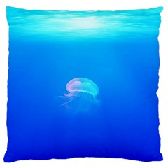 Jellyfish Standard Flano Cushion Case (one Side) by Valentinaart