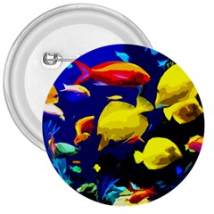 Tropical Fish 3  Buttons by Valentinaart