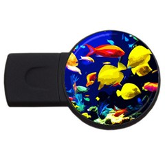 Tropical Fish Usb Flash Drive Round (2 Gb) by Valentinaart
