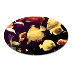 Tropical Fish Oval Magnet by Valentinaart