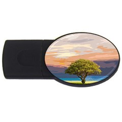 Landscape Usb Flash Drive Oval (4 Gb) by Valentinaart