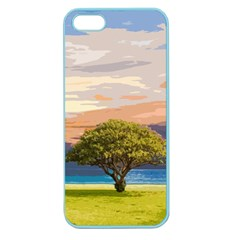 Landscape Apple Seamless Iphone 5 Case (color) by Valentinaart