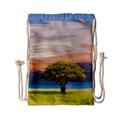 Landscape Drawstring Bag (small) by Valentinaart
