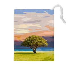 Landscape Drawstring Pouches (extra Large) by Valentinaart