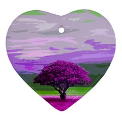 Landscape Heart Ornament (two Sides) by Valentinaart