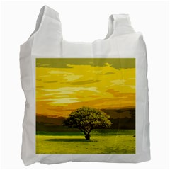 Landscape Recycle Bag (one Side) by Valentinaart