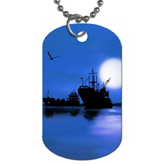 Open Sea Dog Tag (two Sides) by Valentinaart