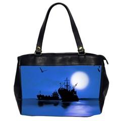 Open Sea Office Handbags (2 Sides)  by Valentinaart