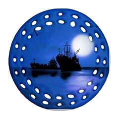 Open Sea Ornament (round Filigree) by Valentinaart