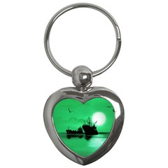 Open Sea Key Chains (heart)  by Valentinaart