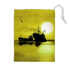 Open Sea Drawstring Pouches (extra Large) by Valentinaart