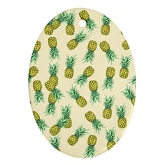 Pineapples Pattern Ornament (oval) by Valentinaart