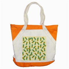 Pineapples Pattern Accent Tote Bag by Valentinaart