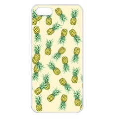 Pineapples Pattern Apple Iphone 5 Seamless Case (white) by Valentinaart
