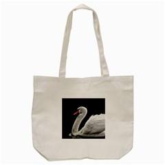 Swan Tote Bag (cream) by Valentinaart