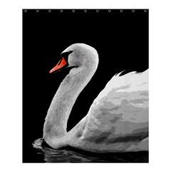 Swan Shower Curtain 60  X 72  (medium)  by Valentinaart